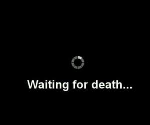 death, waiting, and sad image