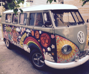 beautiful, hippie, and car image