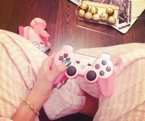 pink, game, and chocolate image