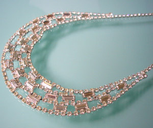 art deco, statement necklace, and crystalpearljewelry image