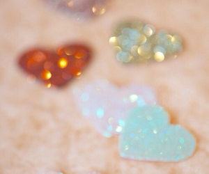 hearts, heart, and sparkle image
