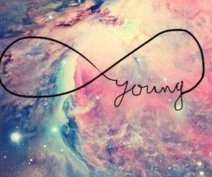 young, galaxy, and forever image