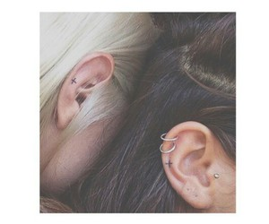 piercing, tattoo, and grunge image