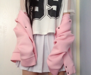 pink, grunge, and outfit image