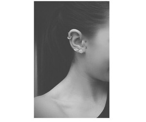 cool, ear, and piercing image
