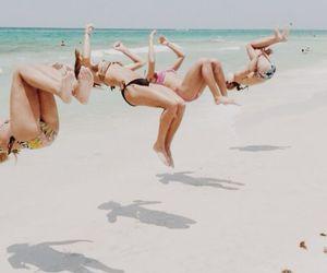amigos, jumps, and playa image
