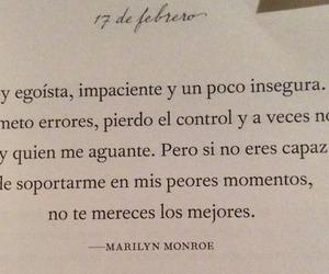frases en español, frases, and Marilyn Monroe image