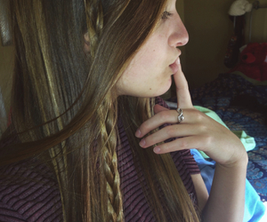 long, hair, and braids image