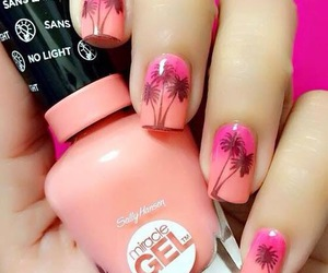 nails, nails with flowers, and nails for summer image