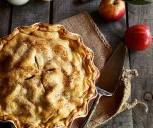 food, apple, and pie image