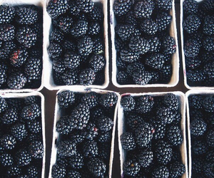 food, berries, and black image