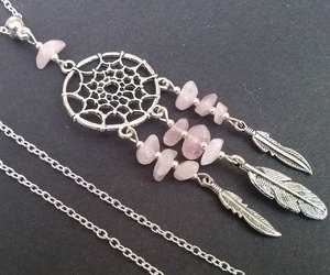 crystals, dreamcatcher, and etsy image