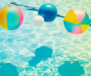 colours, pool, and summer image