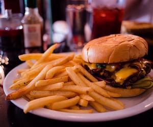 food, fries, and girl image