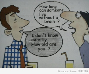 9gag, boys, and brain image