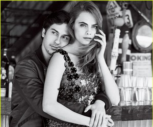 cara delevigne and nat wolf image