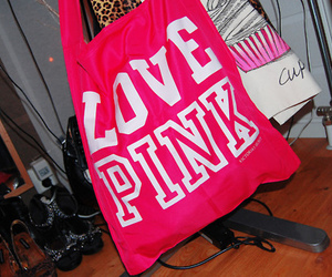 pink, Victoria's Secret, and bag image