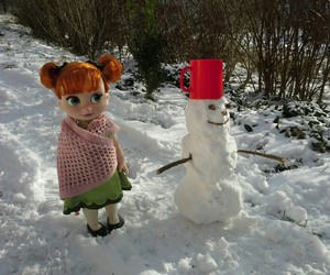 anna, frozen, and snowman image