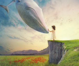whale, Dream, and child image
