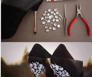 diy, black, and heels image