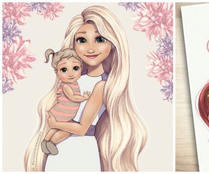 disney, baby, and ariel image