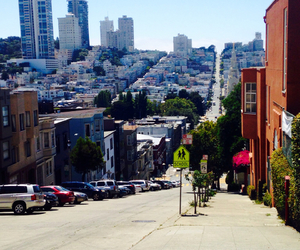 city, francisco, and flowers image