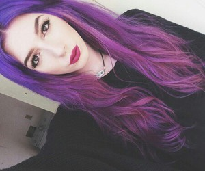 hair, tumblr, and violet image
