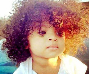 baby, curly hair, and love image