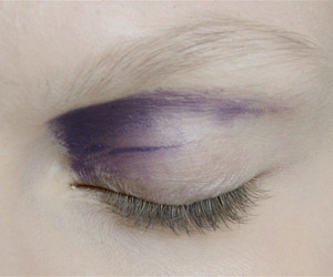 purple, pale, and makeup image