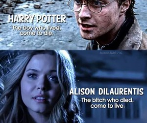 harry potter, pll, and pretty little liars image