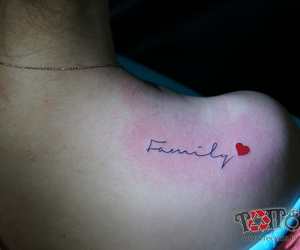 family, heart, and lettering image