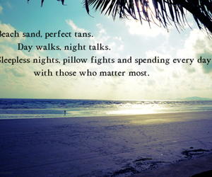 summer, beach, and quote image