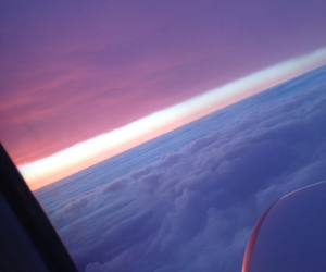 beautiful, clouds, and flight image