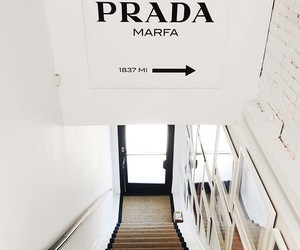 Prada, white, and interior image