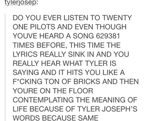 yes, tumblr post, and twenty one pilots image