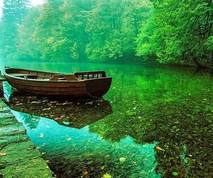 nature, green, and boat image