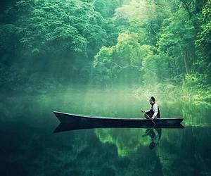 lake and boat image
