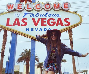girl, Las Vegas, and travel image
