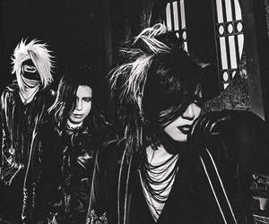 aoi, black and white, and the gazette image