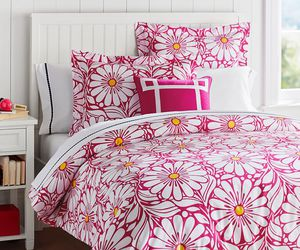 bedding, bedroom, and daisy image