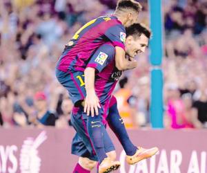 football, messi, and neymar jr image