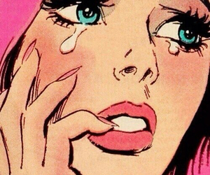 pink, cry, and pop art image