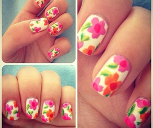 nails, flowers, and design image