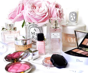 cosmetics, dior, and flowers image