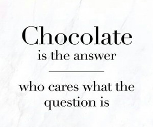 answer, chocolate, and question image