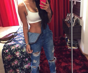 jeans and selfie image