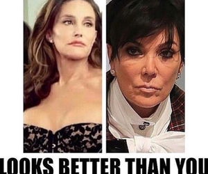 funny, caitlyn jenner, and kris jenner image