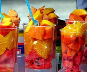 food, mango, and pink image