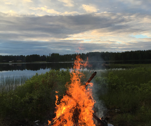calm, campfire, and camping image