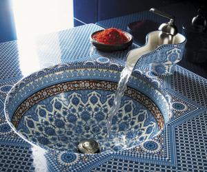 blue, bathroom, and interior image